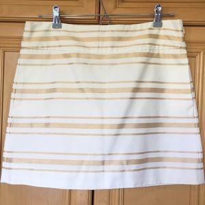 J.Crew Gold Stripe Boxed Skirt